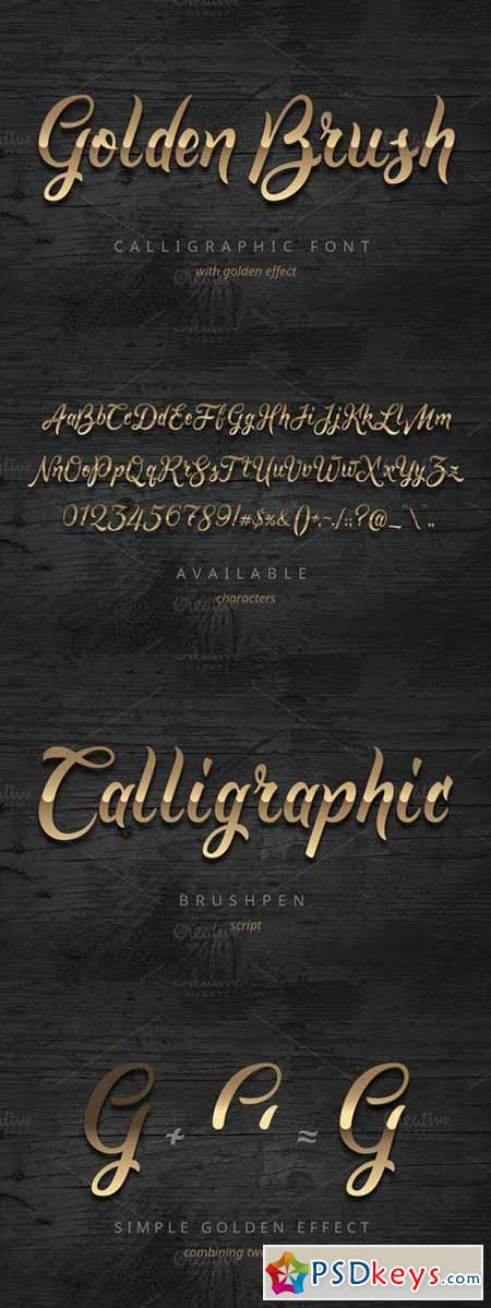 Golden Brush font 565963