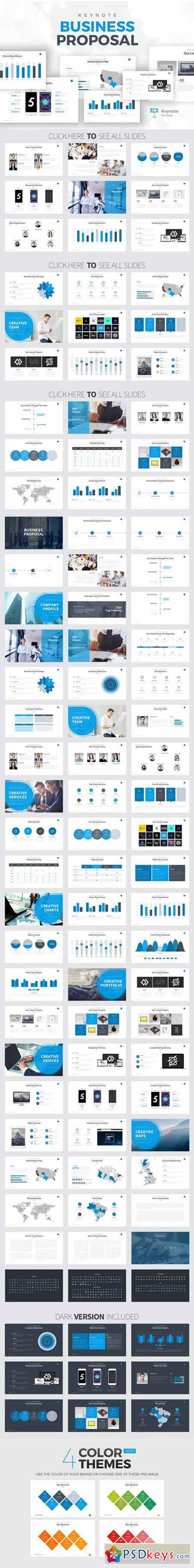 Business Proposal Keynote Template 575438