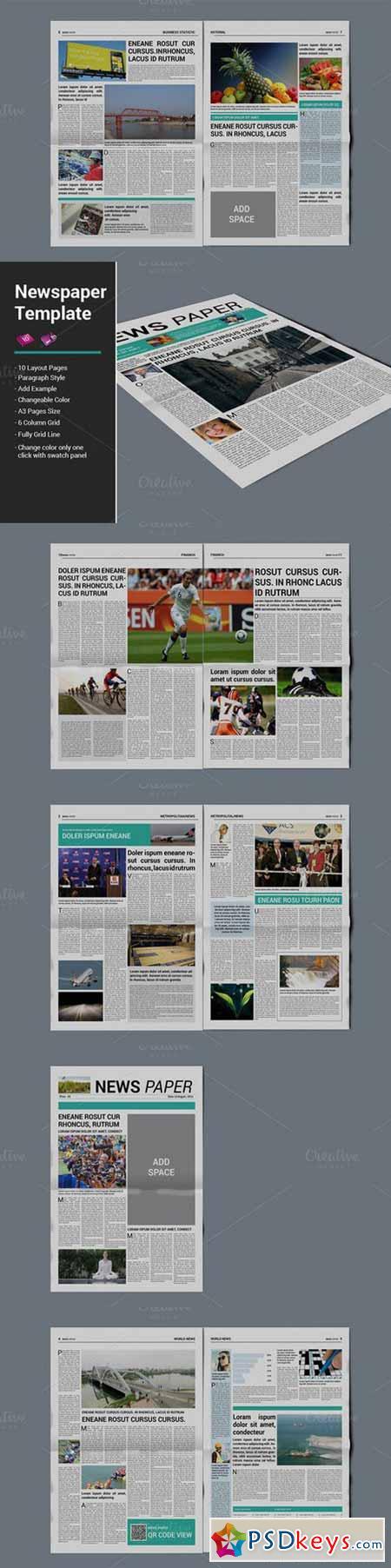 Newspaper Template 471074