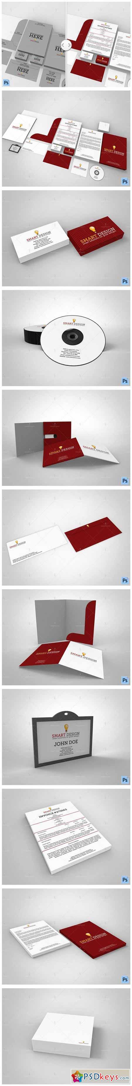 Branding Stationary Mockup Set 576112