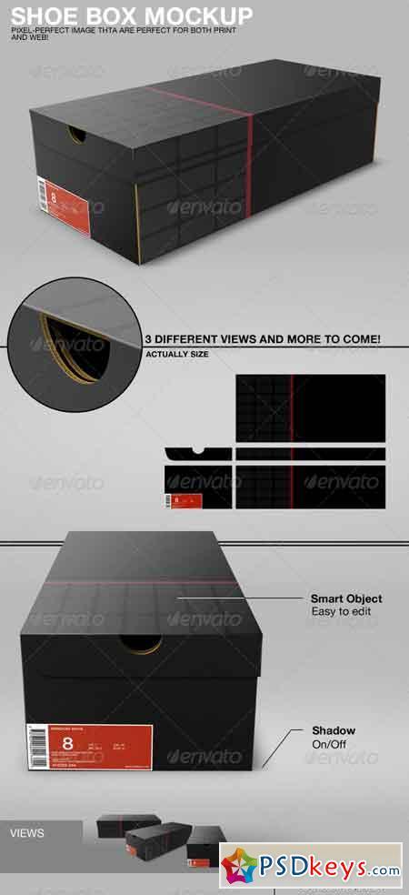 Shoe Box Mockup 3010500