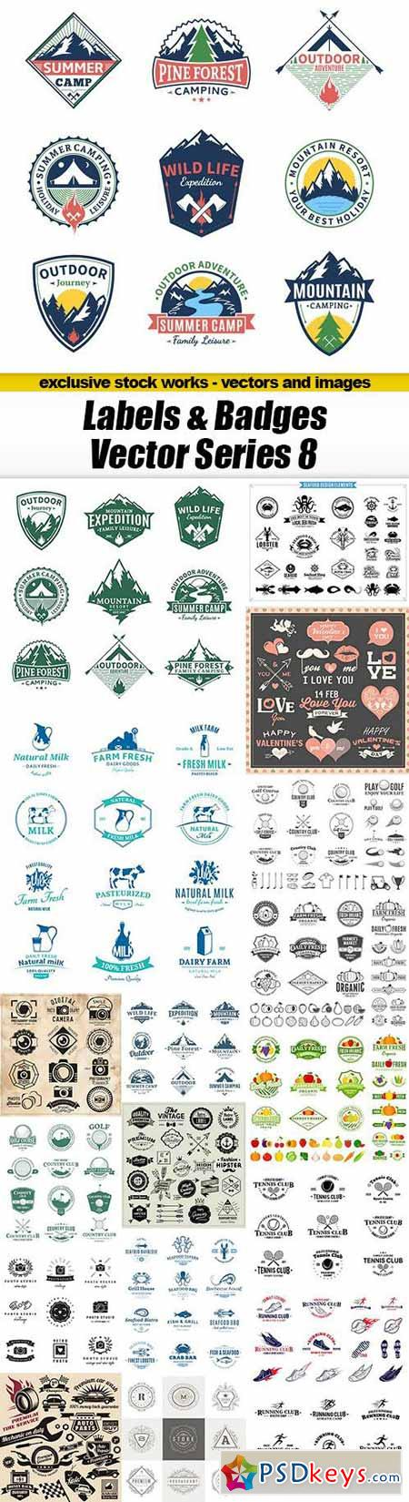 Labels & Badges Vector Series 8 - 18xEPS