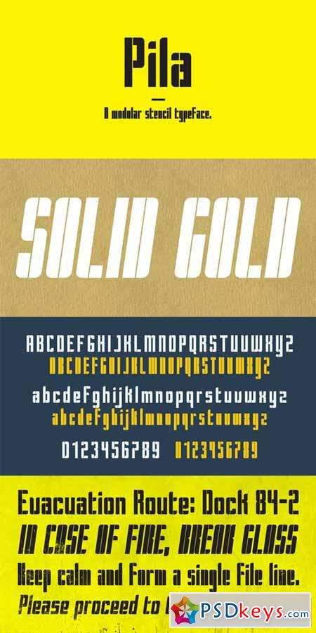 Pila Font Family $60