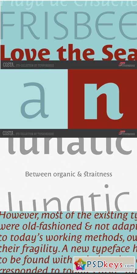 Costa Std Font Family $245