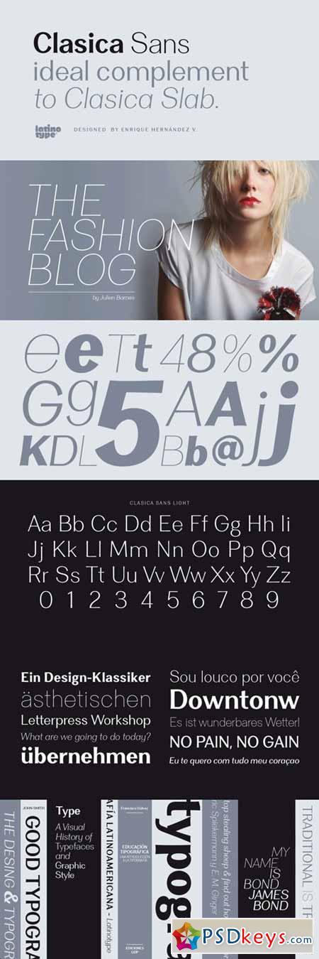 Clasica Sans Font Family $126