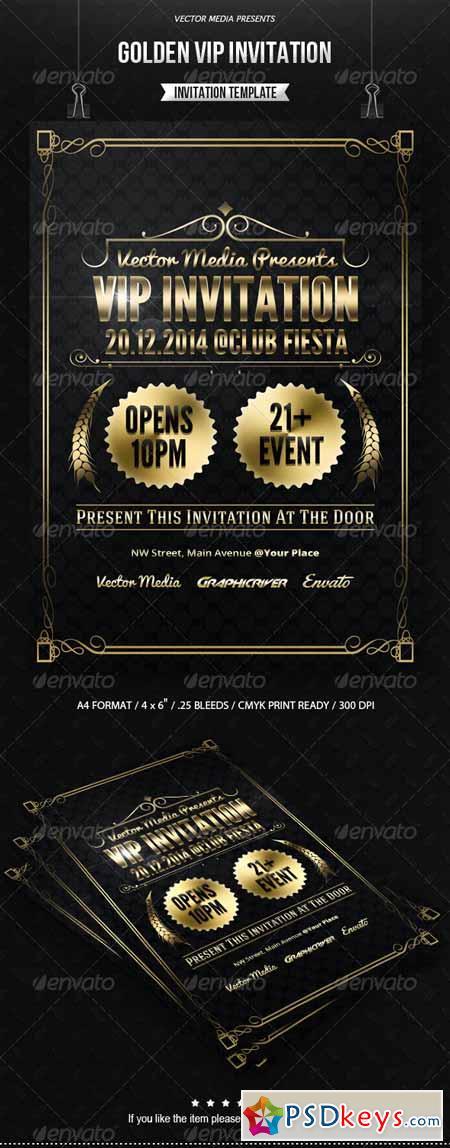 Golden VIP Invitation 7563375