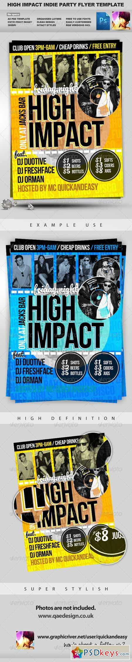 High Impact - A5 PSD Flyer Template 628416