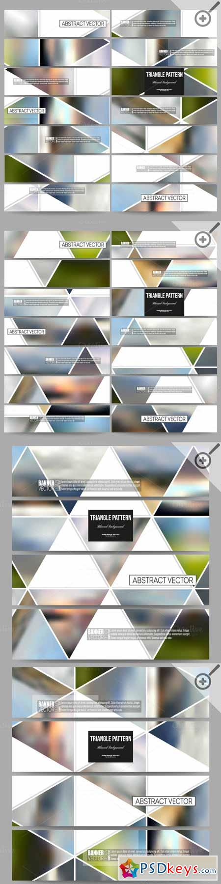 Set of blurred vector banners 554053