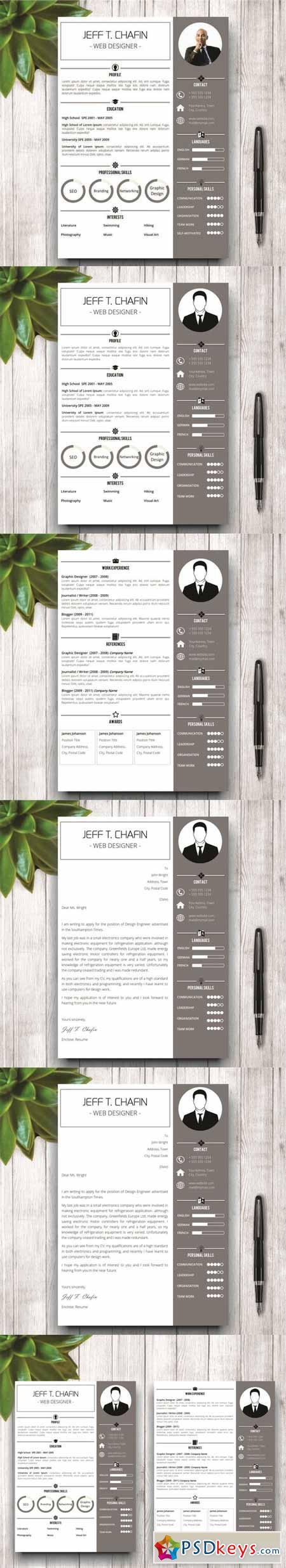Simple Resume Template in MS Word 561406