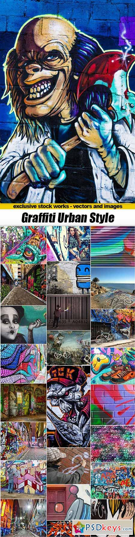 Graffiti Urban Style - 25xUHQ JPEG
