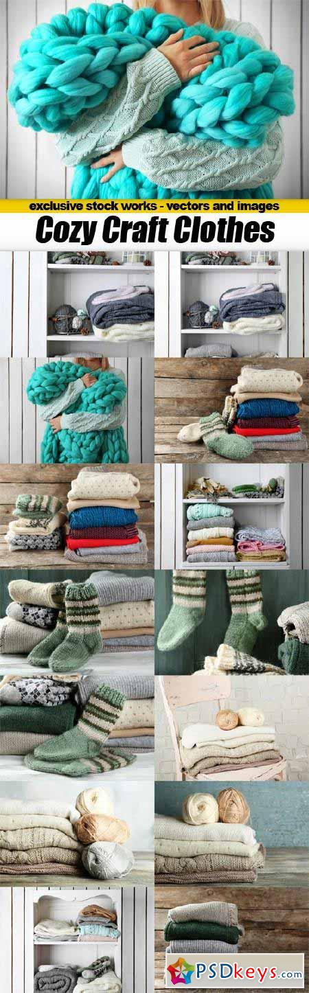 Cozy Craft Clothes - 15x JPEGs