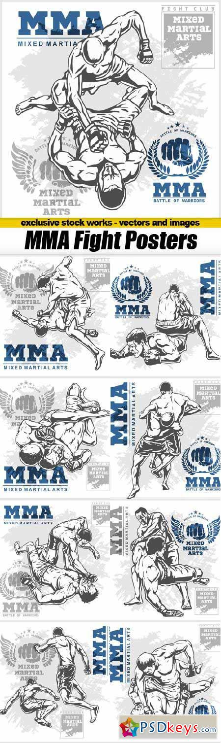 MMA Fight Vector Posters - 9x EPS