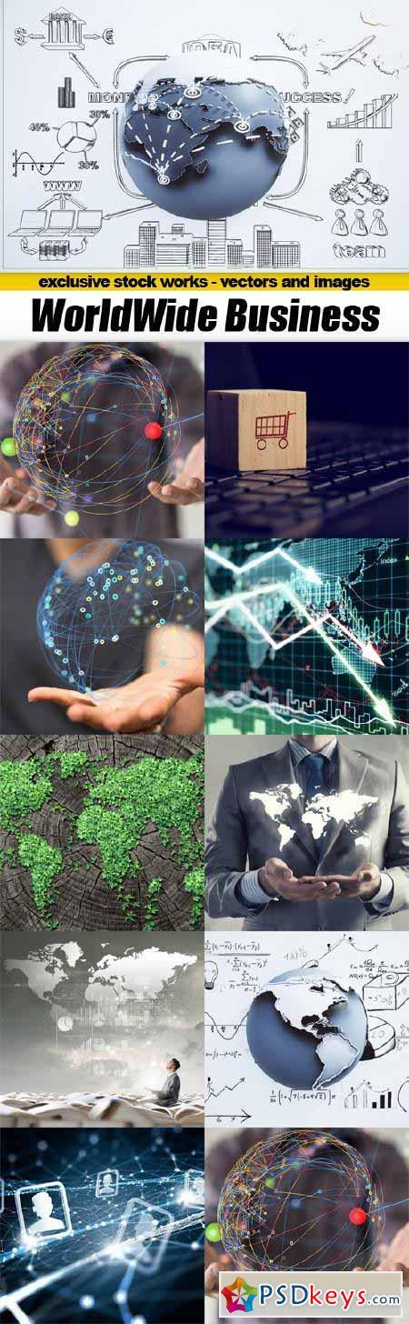 WorldWide Business Concept - 10x JPEGs