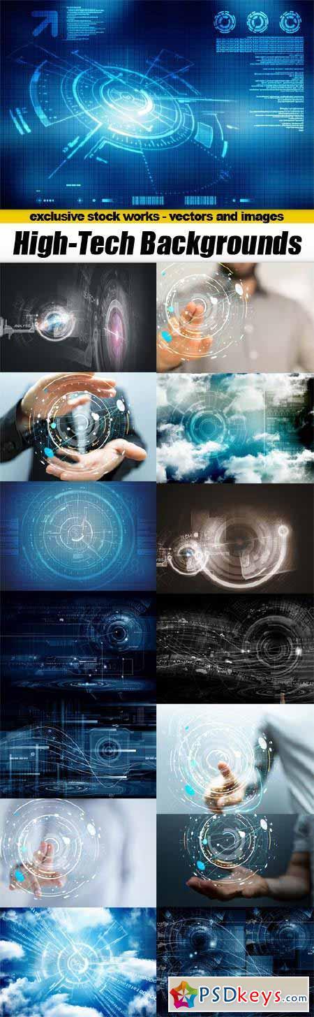 High Tech Abstract Backgrounds - 15x JPEGs