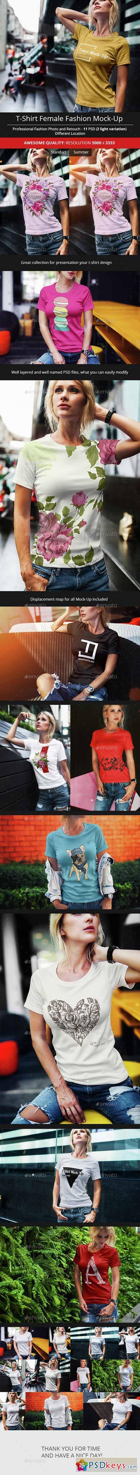Female T-Shirt Fashion Mock-Up 14707045 » Free Download Photoshop