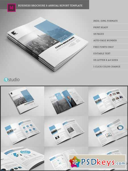 Business Brochure Annual Report   Free Download Photoshop