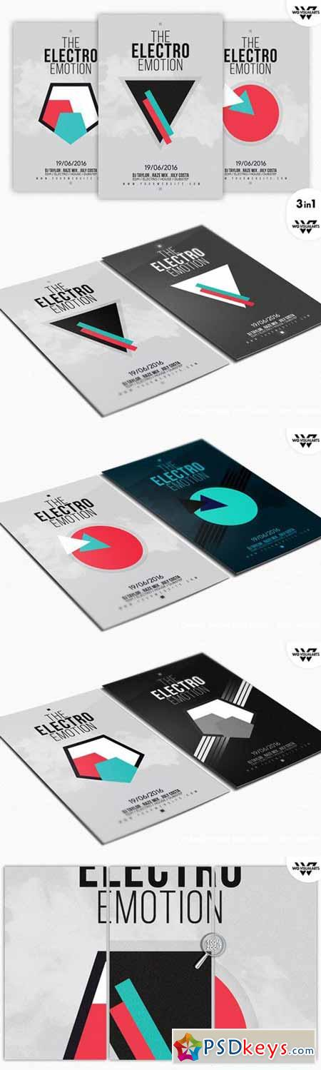 ELECTRO MINIMAL Flyer Template 443582 » Free Download Photoshop ...