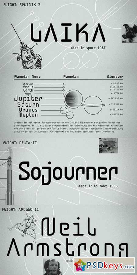 BD Jupiter Font Family $45