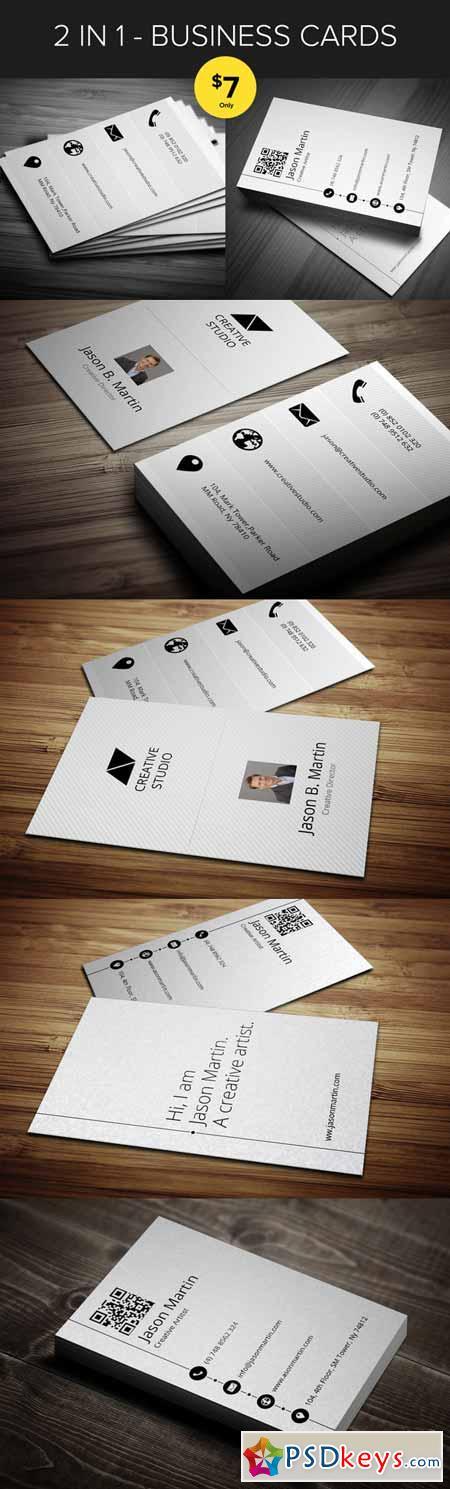 Bundle 2 in 1 - Metro Business Cards 565306