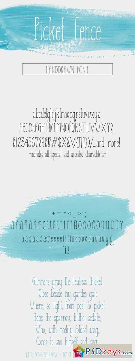 Picket Fence - Handdrawn Font 548985