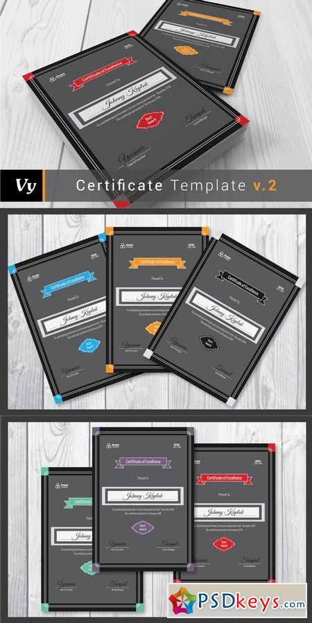 Portrait Certificate Template 109807