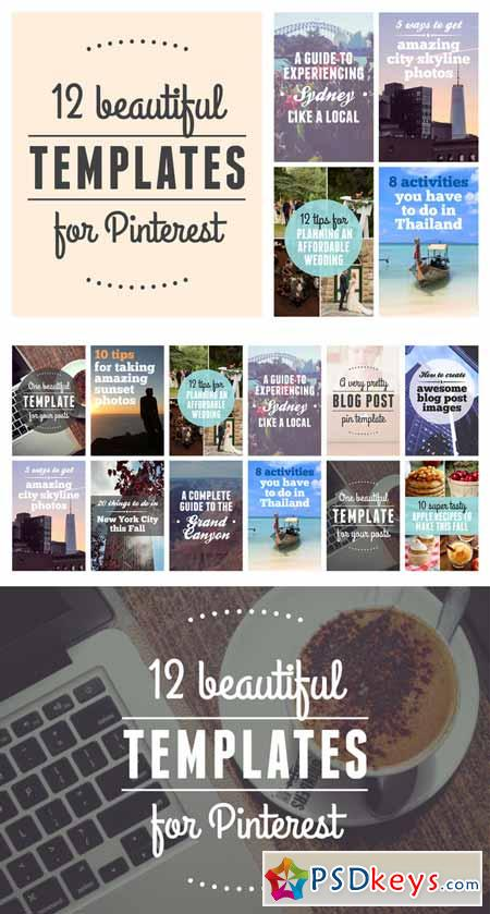 12 beautiful templates for Pinterest 564872