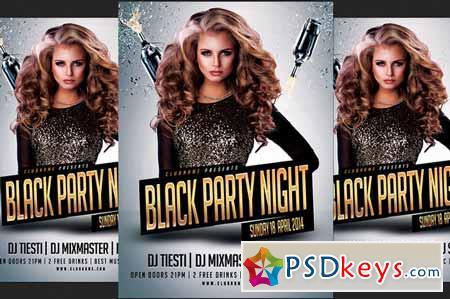Black Party Flyer 225443