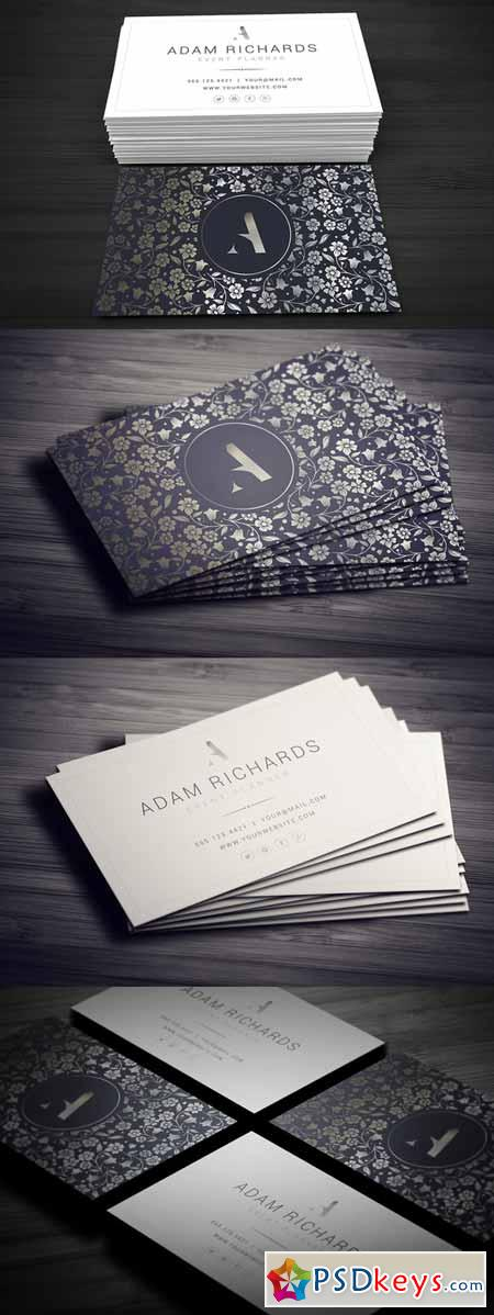 Elegant Business Card 580620 » Free Download Photoshop Vector ...