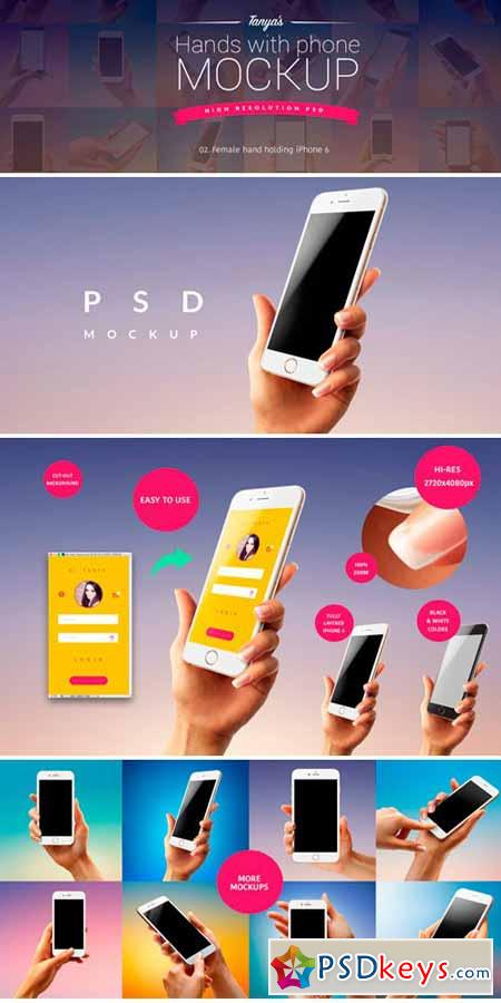 Hand With iPhone Mockup PSD 02 316438