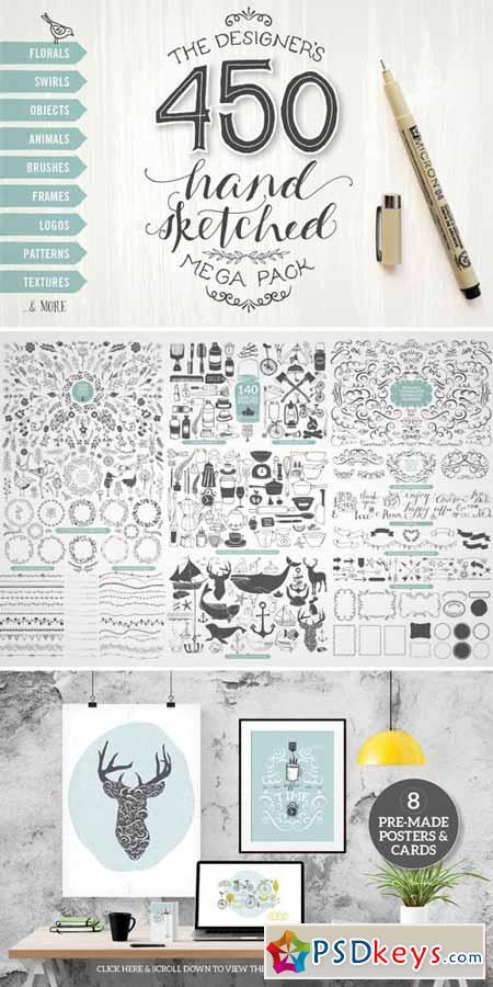 Designer's Hand Sketched Megapack 175061