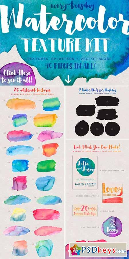 Watercolor Texture Kit 243959