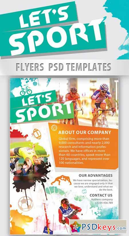 sports brochure template