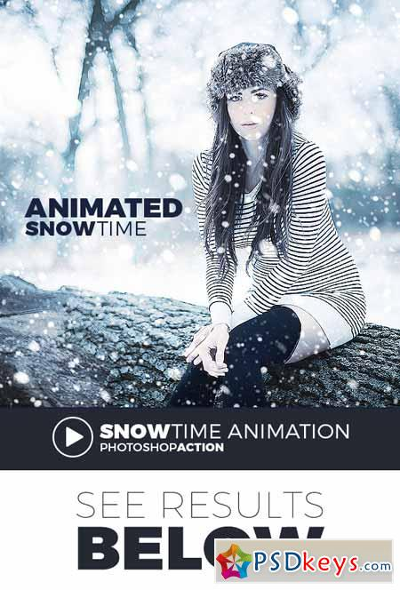 Animated Snow Action 15185071