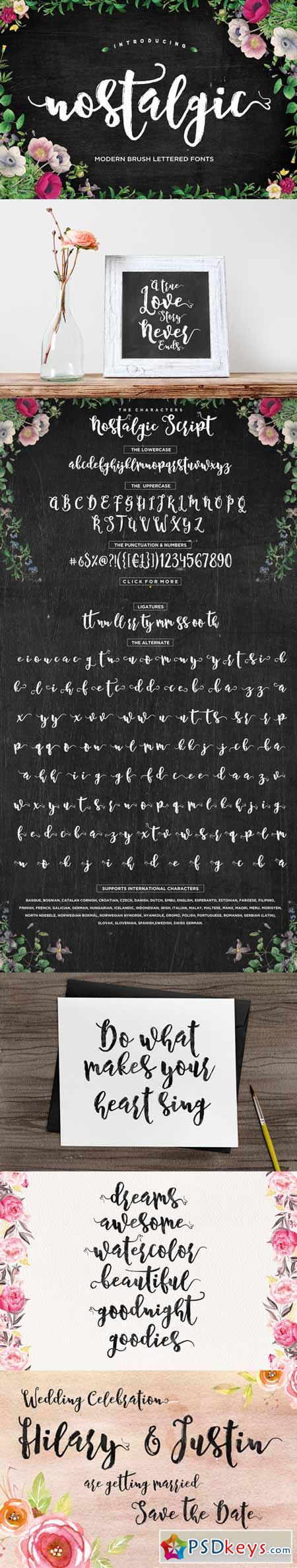 Nostalgic Script 581023