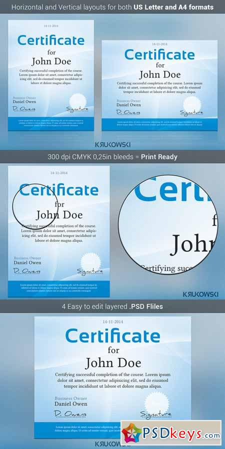 Simple Certificate Template 107435 Free Download Photoshop Vector
