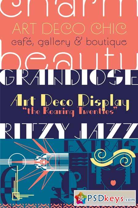 P22 Art Deco Font Family