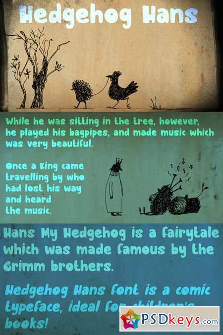 Hedgehog Hans Font Family