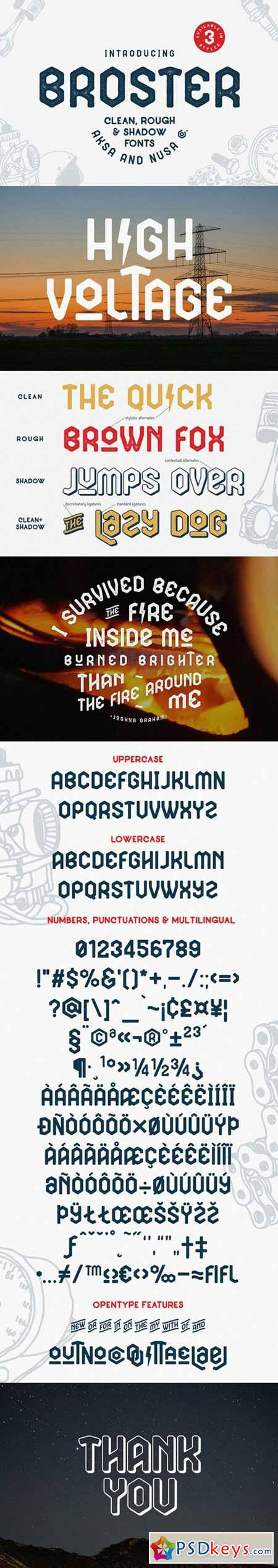 BROSTER Display Fonts 568374