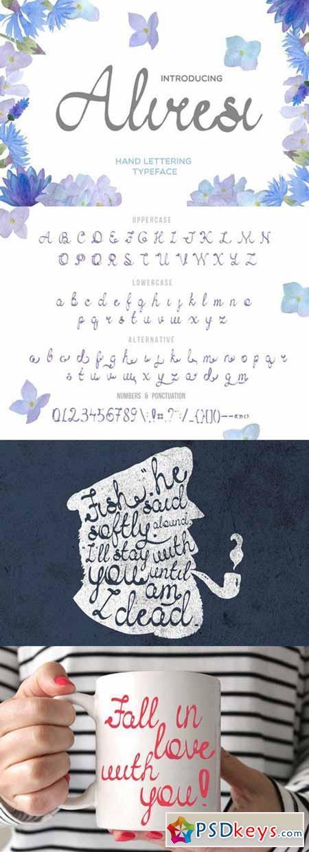 Aliresi Script Fonts 589848