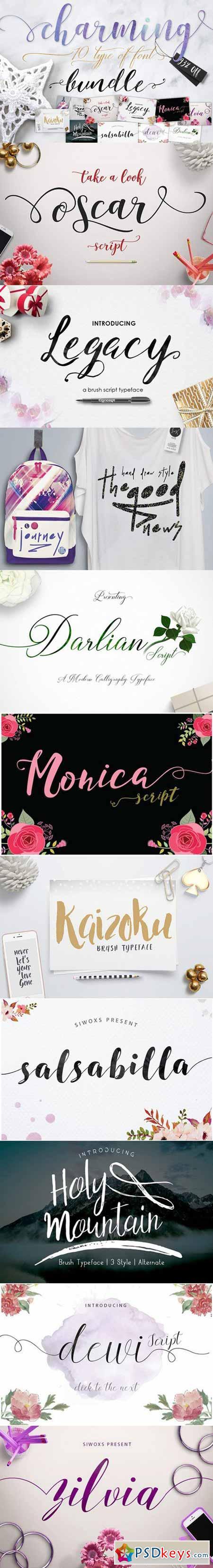 Charming Font Bundle 590377