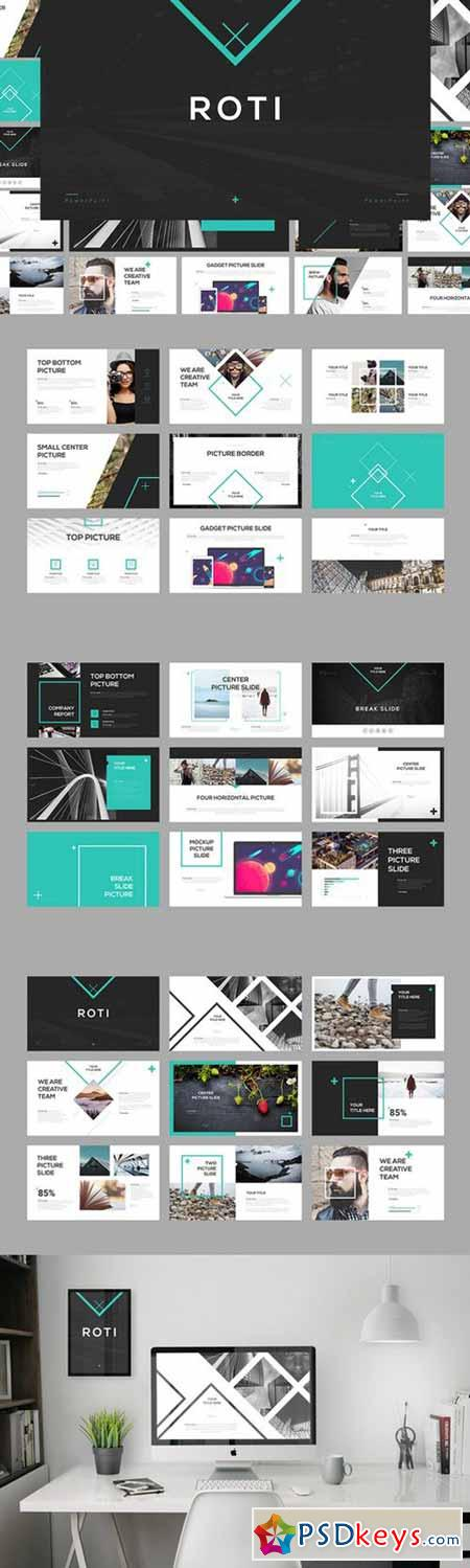 Roti PowerPoint Template 580144
