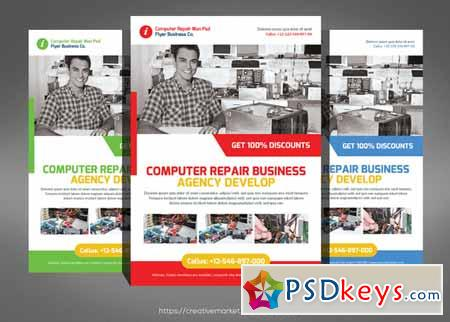 Computer Repair Flyer Templates   Free Download Photoshop