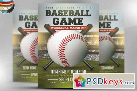 baseball flyer template 2 583147 free download photoshop vector