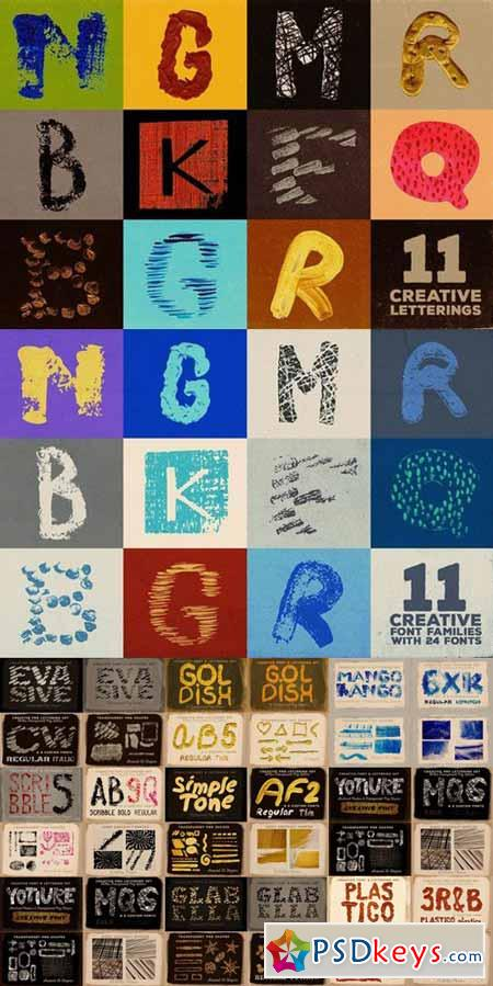 Artistic Fonts Bundle 1 586722