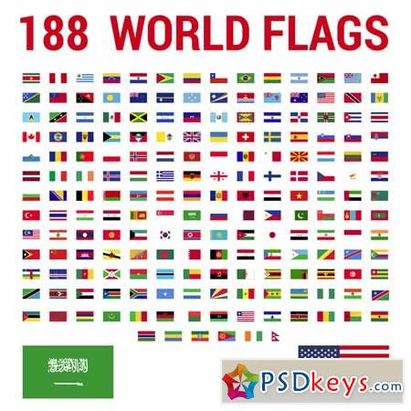 Flags vector of the world Ai 582659