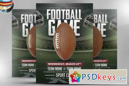American Football Game Flyer 583040