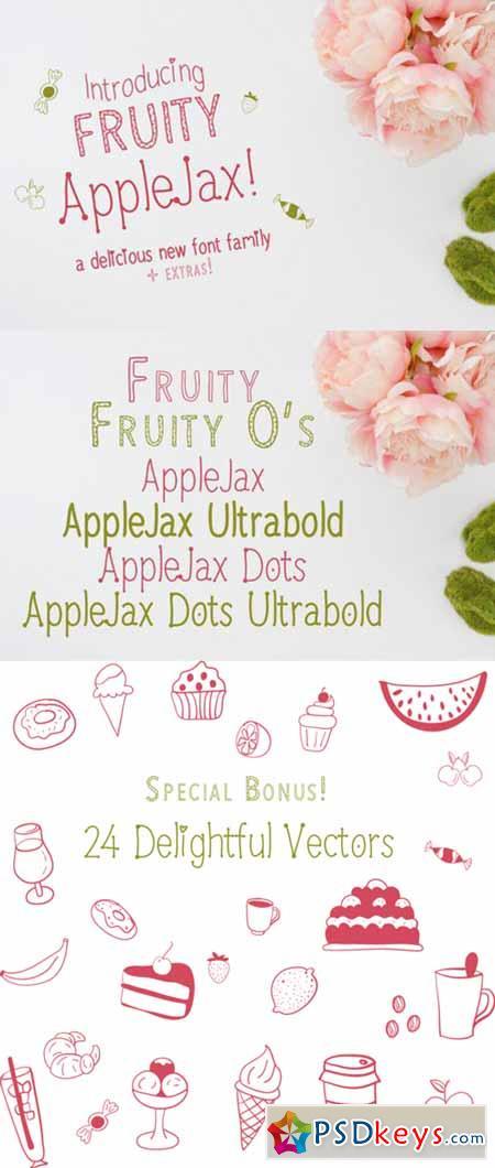 Fruity AppleJax - Handwritten Fonts 593822