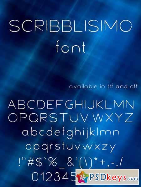 Scribblisimo font 593780