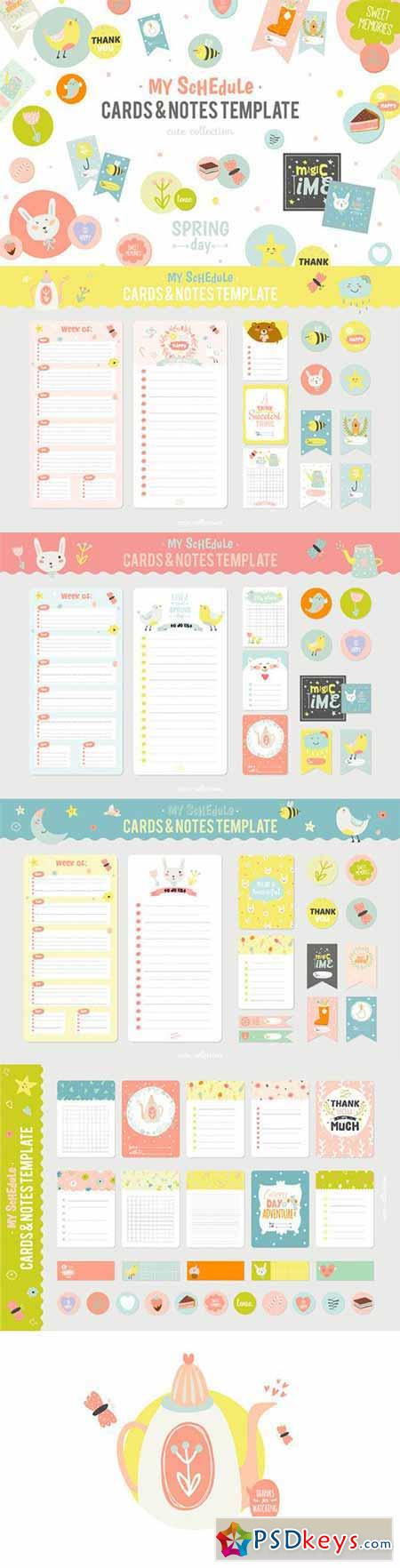 Cute Planners, cards, and stickers 557598