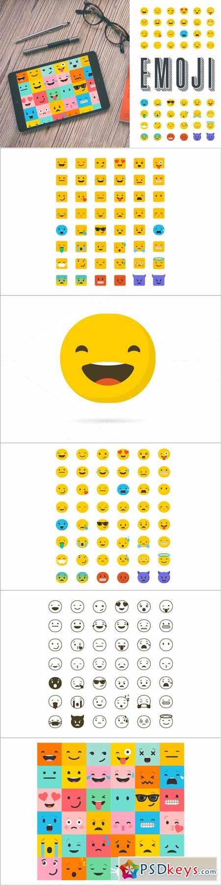 Emoji emoticons bundle of icons 584479